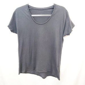EVERLANE Cotton Knit U-Neck Charcoal Gray Tee GUC